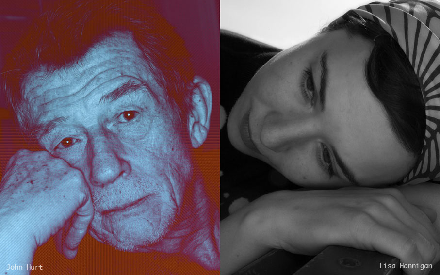 John Hurt and Lisa Hannigan